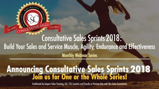 2018 consultative sales sprints